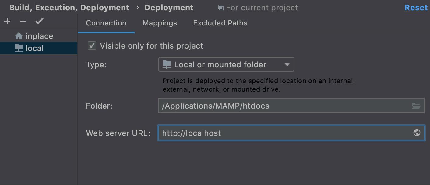 Create local server