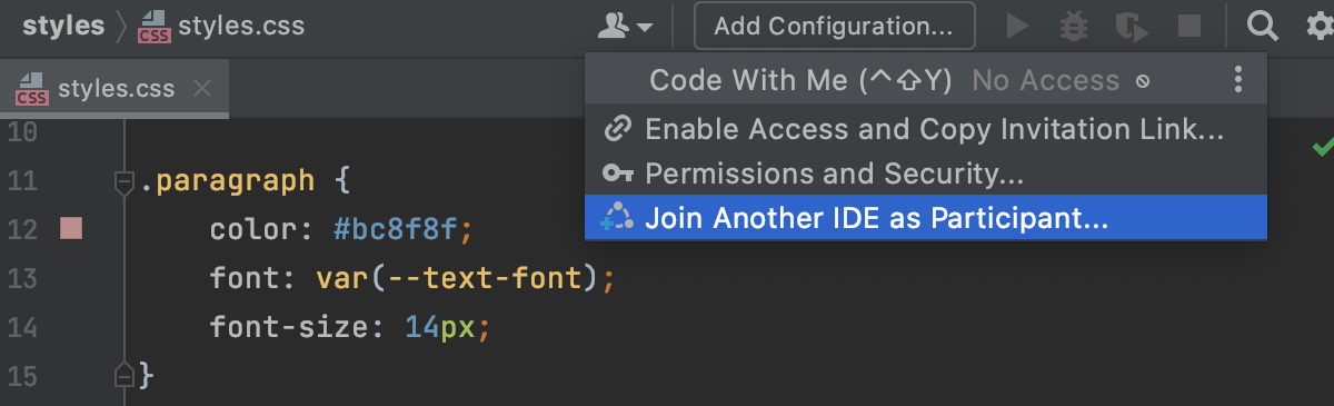Join another IDE