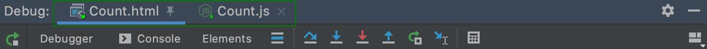 Several debugging sessions: tabs