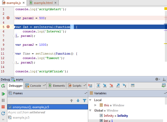 Debugging asynchronous JavaScript code