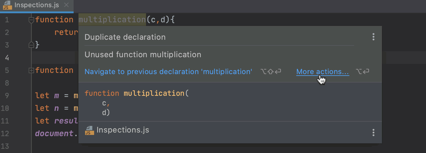 Detecting duplicates on-fly