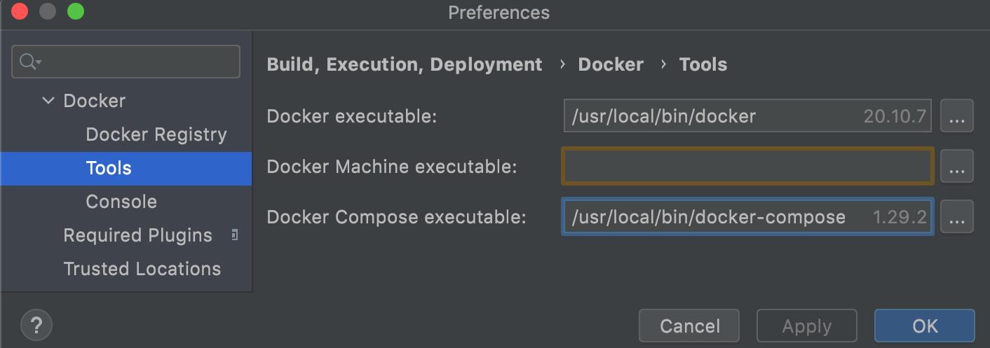 Docker Compose executable file