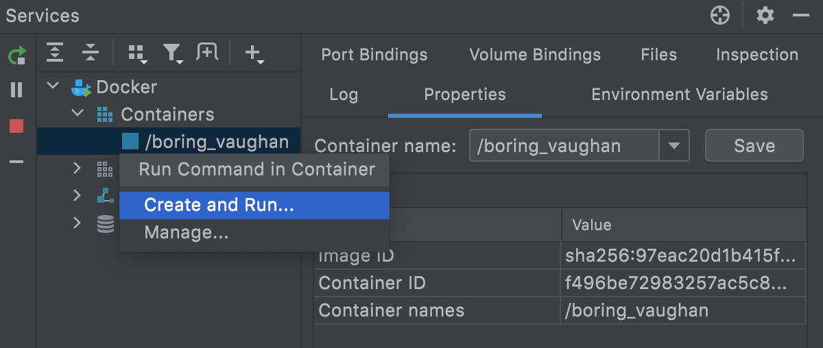 Execute a command in a running container