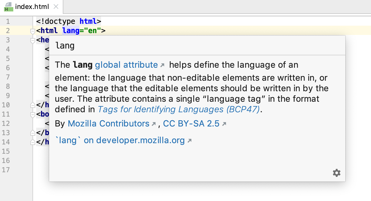 HTML quick documentation: attribute is available in all versions of browsers