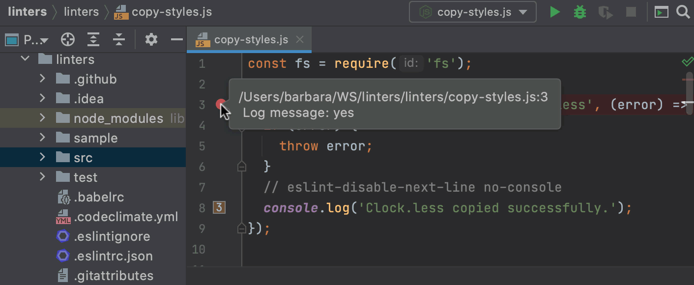 Tooltips in the IDE