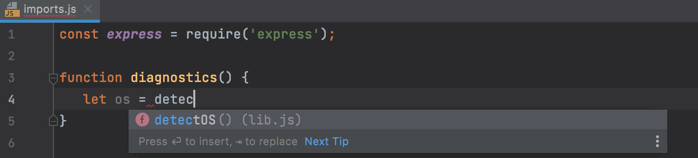 Auto import with CommonJS import statement