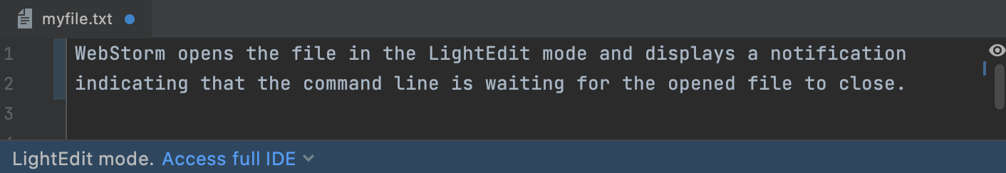 LightEdit mode: externally changed file