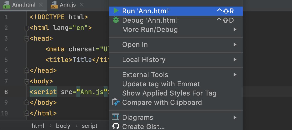 Run client JavaScript