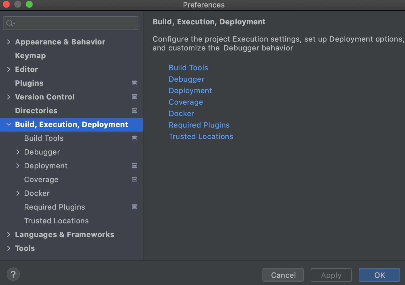 Build, Execution, Deployment