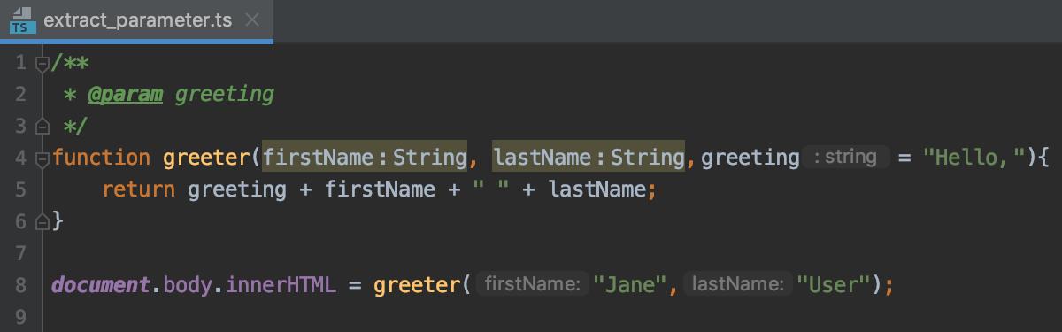 Introduce Parameter: result