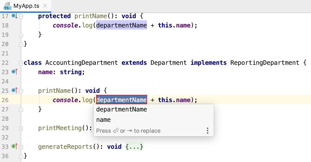 Introduce Constant: select the name