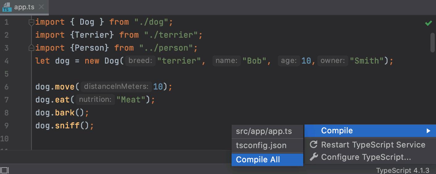 TypeScript: monitor compilation errors