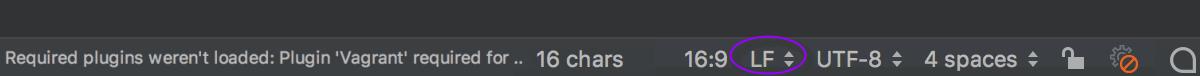 Status of line separators