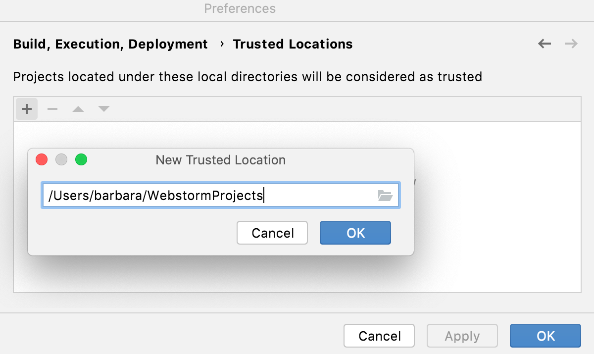 Webpack: Trusted Locations