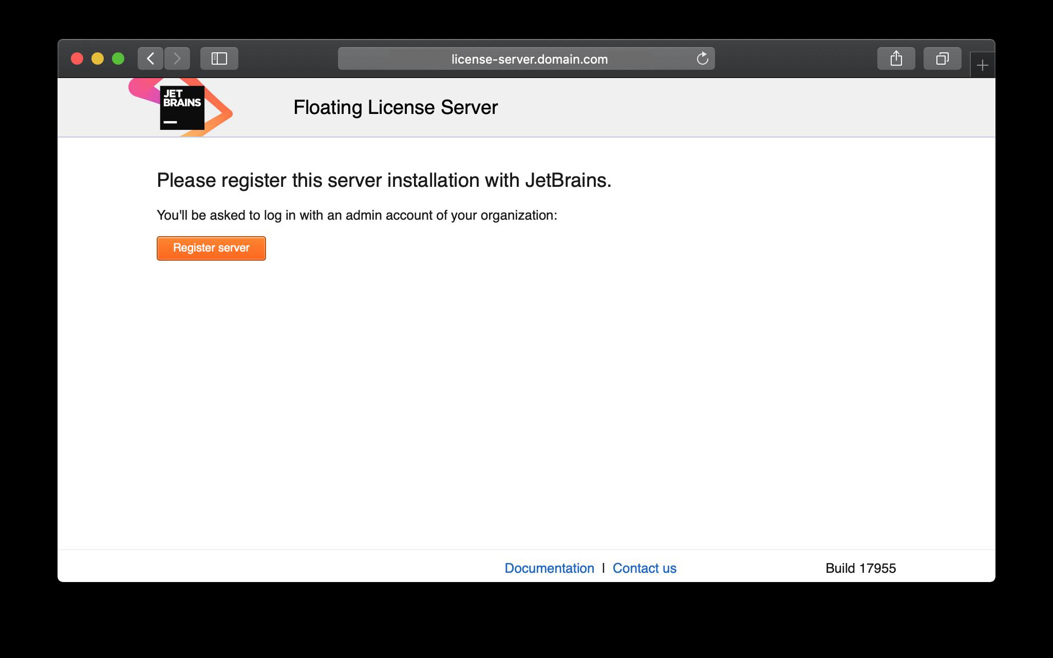 Registering FLS - Help | Floating License Server
