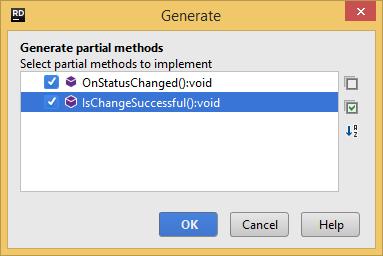 Generating partial members