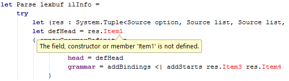 FSharp code highlighting error