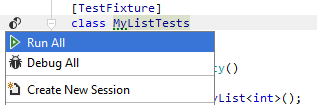 Unit Testing Recognizing Unit Tests test fixture