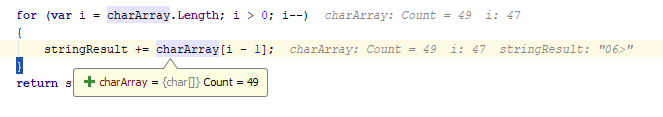 debug values tooltips