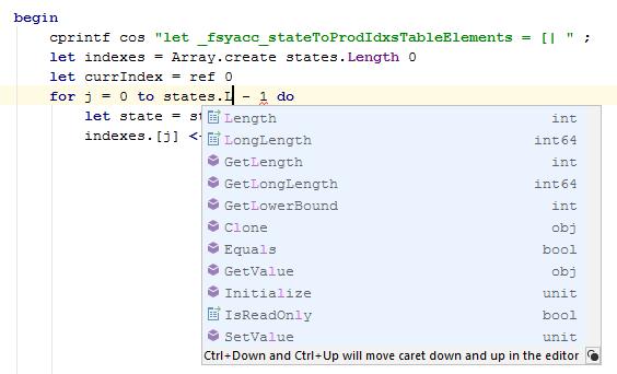 FSharp basic code completion