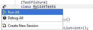 Unit Testing Recognizing Unit Tests test fixture