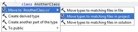 Moving type to matching file