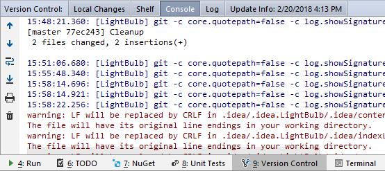 versionControlToolWindowConsole