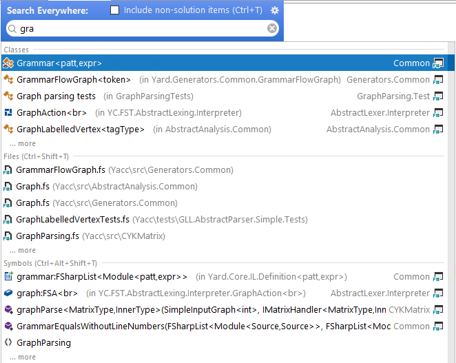 FSharp search everywhere