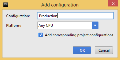 add solution configuration