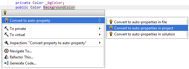 Use auto-property quick-fix