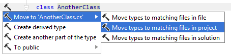 Moving type to matching file