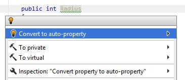 'Convert to auto-property' quick-fix