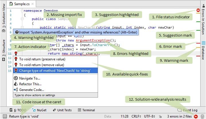 code analysis sample