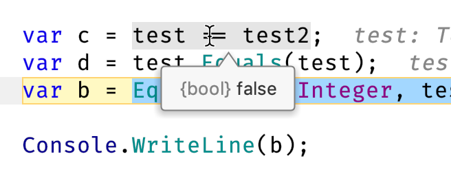 JetBrains Rider: Evaluating expression in an editor tooltip