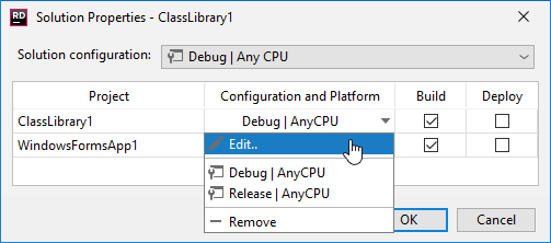 Build Configurations - Help | JetBrains Rider