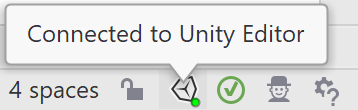 Connected Unity editor