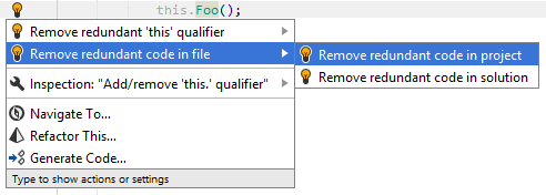 Remove redundant code quick-fix