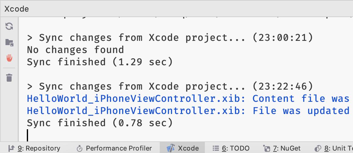 Xamarin development in JetBrains Rider: Xcode console