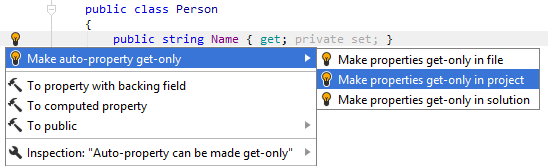 Make auto-property get-only fix