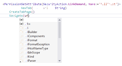 JetBrains Rider: Code completion in VB.NET