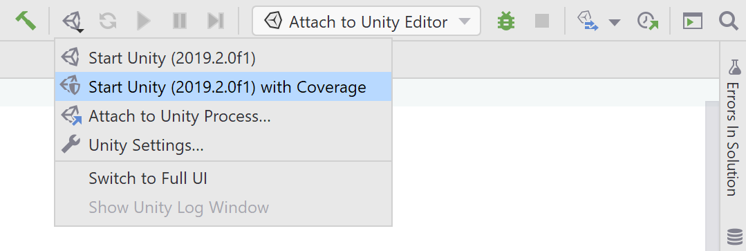 Coverage analysis of Unity tests