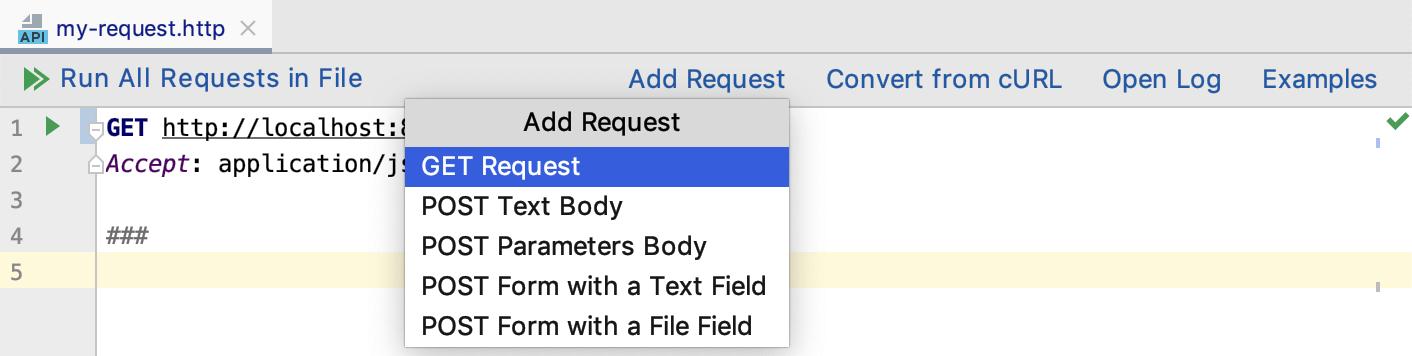 Add an HTTP request