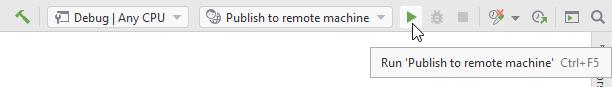 SSH remote debugging. Deployment run