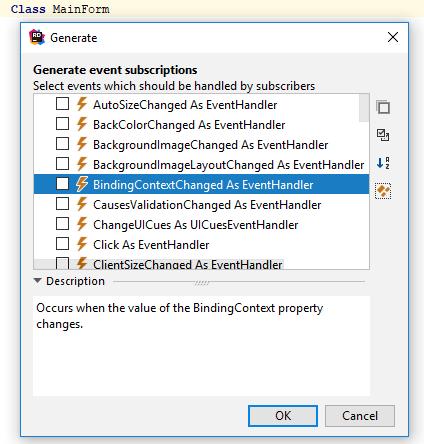 JetBrains Rider: Generating event subscriptions in VB.NET