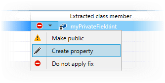 JetBrains Rider: Extract Class refactoring