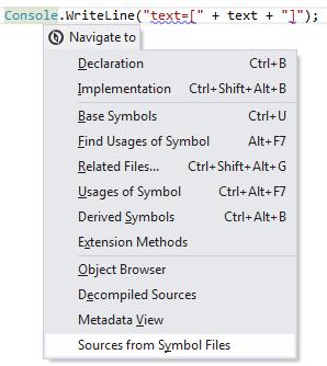 JetBrains Rider: Navigating to external source file