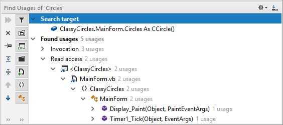 JetBrains Rider: Find Usages in VB.NET