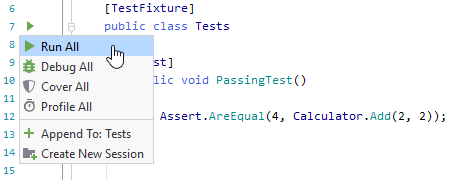JetBrains Rider: Recognizing unit tests in the editor
