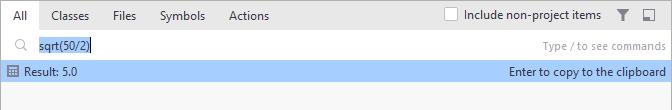 JetBrains Rider. Calculator in 'Search everywhere'
