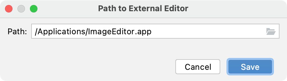 Specifying the path to an external editor